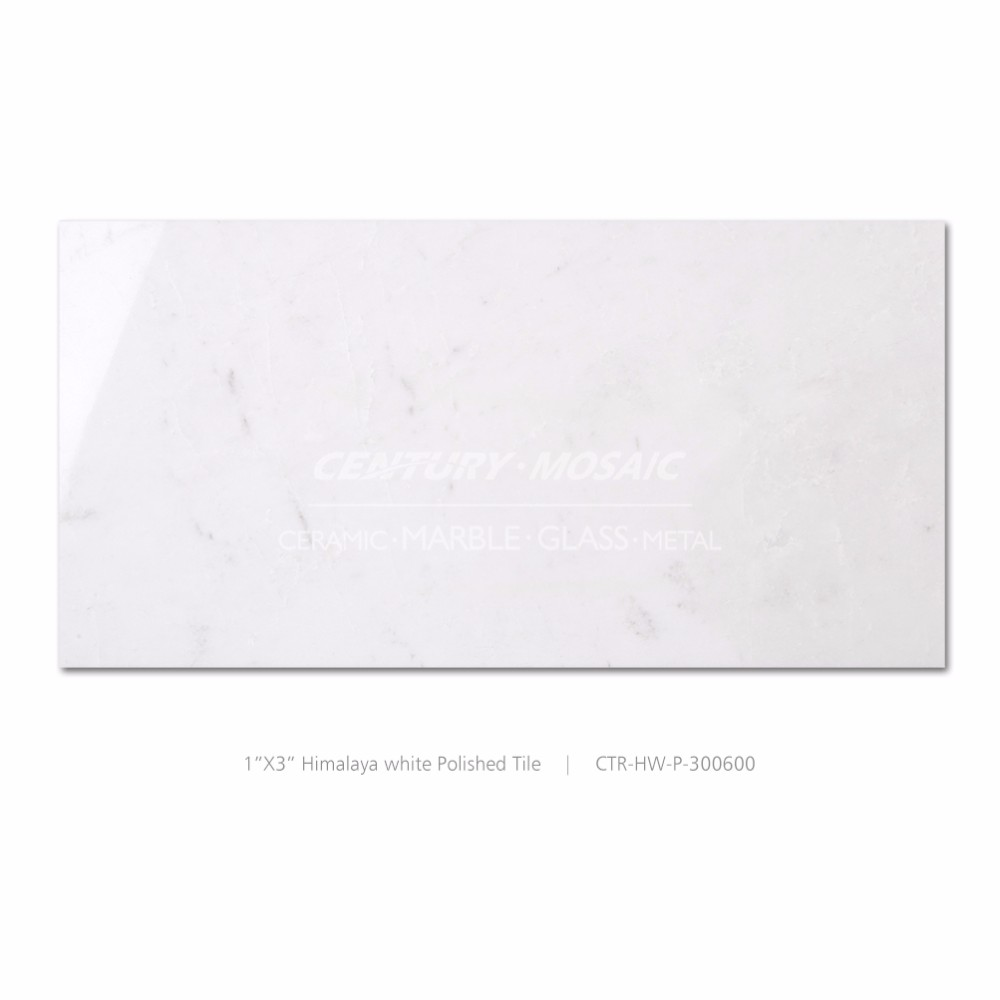 himalaya white polished pure white marble bathroom tile board wall