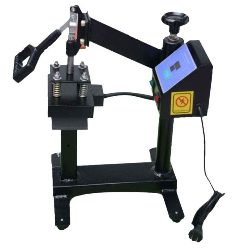 Manually cap heat transfer machine for printing cas and hats