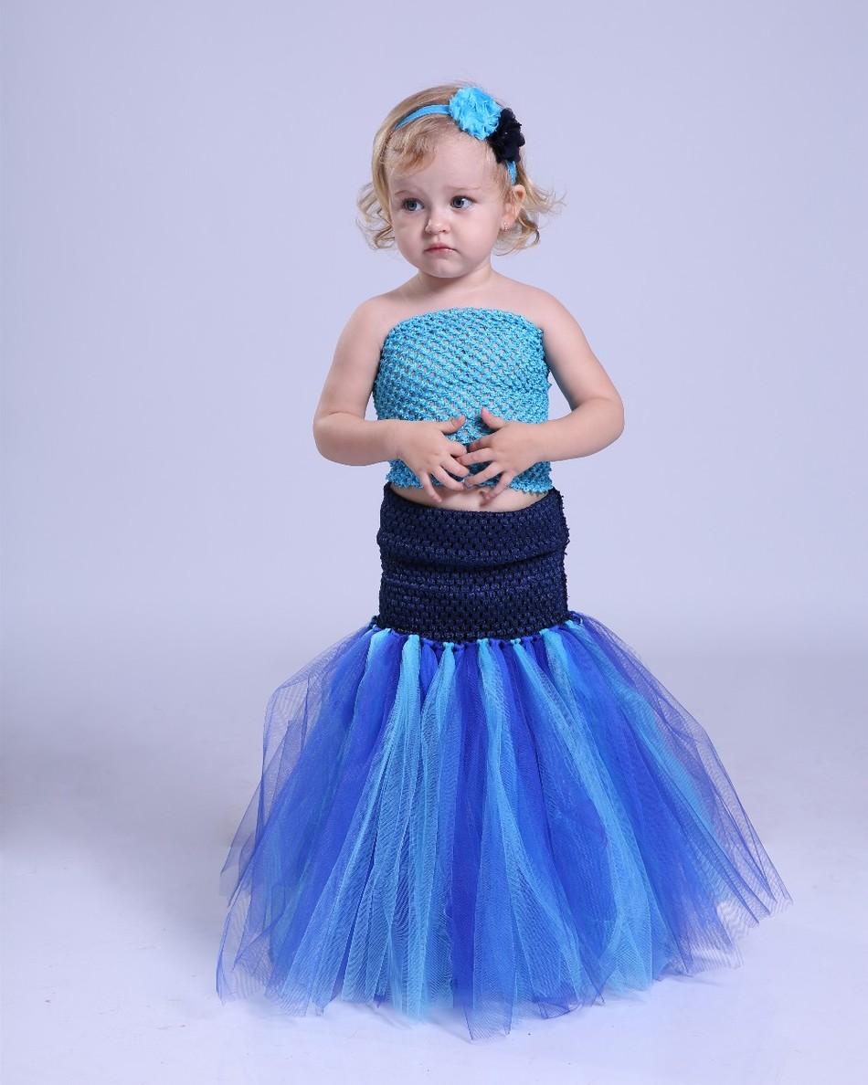 Neue Baby Kinder Mädchen-ballettröckchen Kleid Meerjungfrau ...