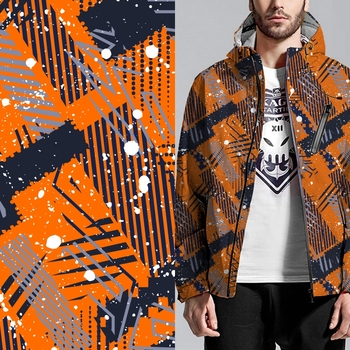 Fashion custom design digital printed jacket print fabric