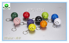 smiley ball keychain/dia4cm/pu foam anti stress ball/promotional gifts