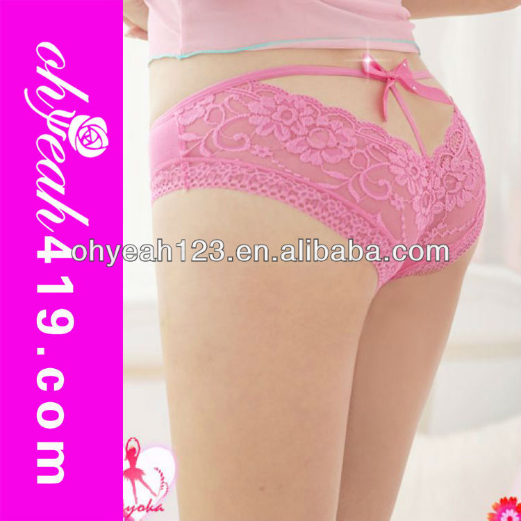 Hot wholesale fashion pink lace sexy ladies transparent panties,panties ladies models,sexy ladies in panties