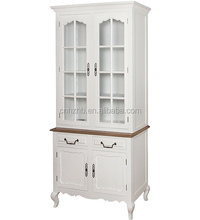 Hot selling french style white dining room furniture wooden cupboard sideboard