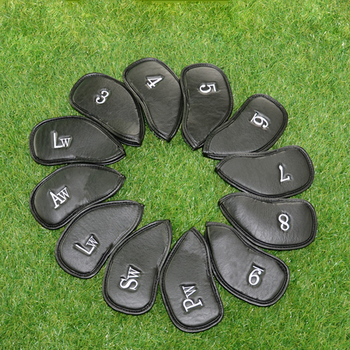 Golf Club Iron Covers Headcovers PU Leather Protector Golf Head Cover