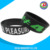 DIY custom debossed silicone wristband with color inks filled