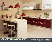 Wooden Flat Pack Kitchen Furniture For Hotel Project