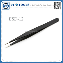 Promotion BGA Repair Tool ESD Tweezers Stainless Steel Anti-static Fine Tip Straight Tweezers