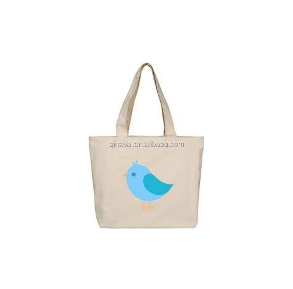Custom Logo Printing Recycle Organic Cotton Canvas Tote Bags Wholesale