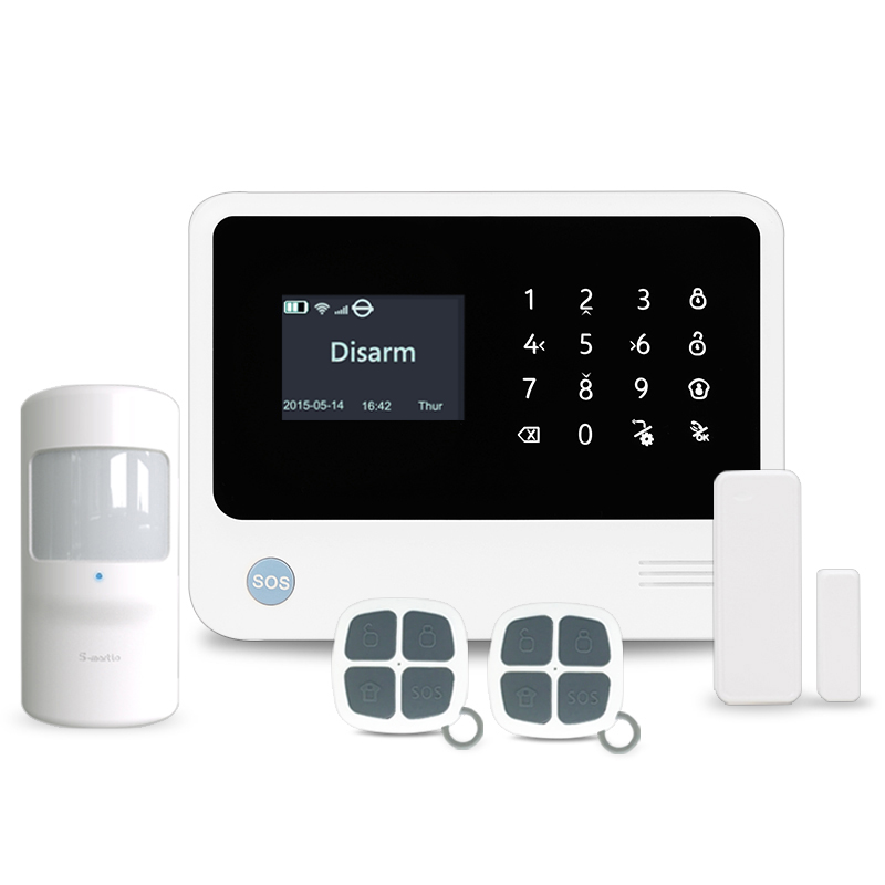2018 newest cheap price GSM/WIFI smart home alarm system with APP easily control,work with WIFI IP camera100 wireless & 8 wired