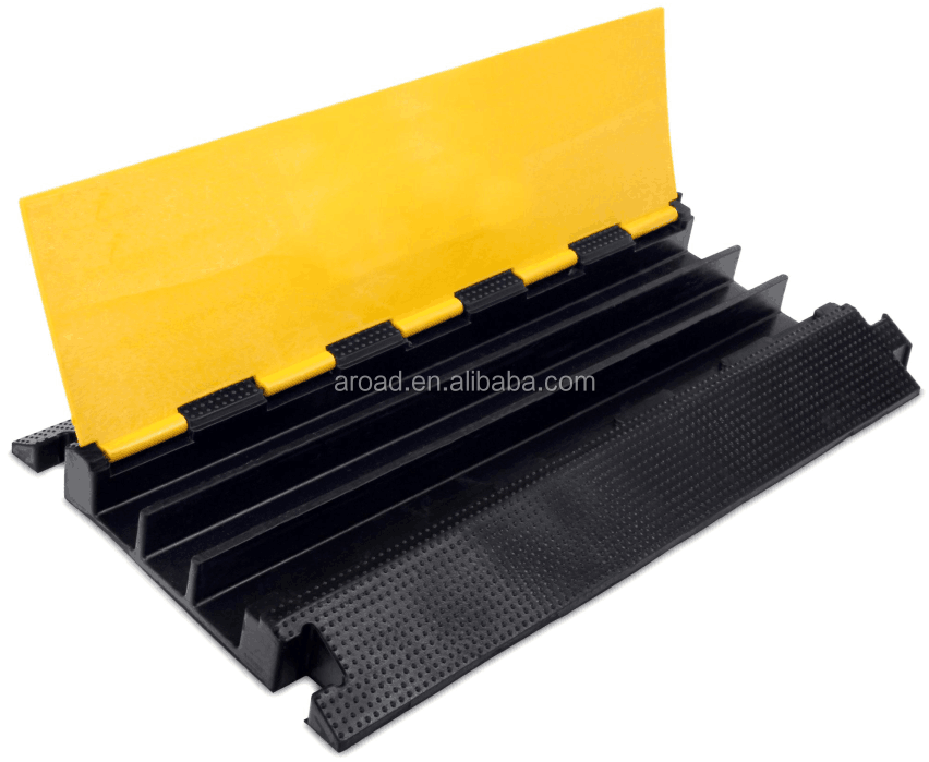 Yellow Jacket 3 Channel Rubber pvc cable protector rubber cove