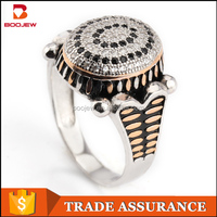 Wholesale jewelry boss finger gold ring hallmarks color changing ring stone