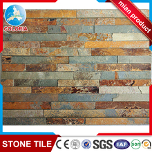 Hebei rust colour natural slate culture stone for wall decoration