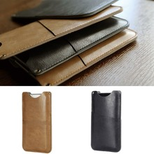 ROCK Brand Leather Pouch Phone Case with Card Slot for iphone 6S