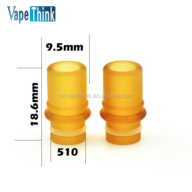 2017 New Steam-Shark PEI Driptips 510 size fit for most of atomizer from Vapethink 510 PEI drip tip