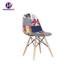 Hot sales work well modern sales fabric design replica furniture no arms dining chairs for living room kitchen room prepare
