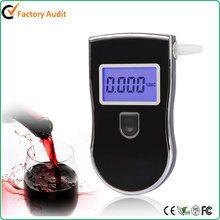 New Police Digital Breath Alcohol Tester Portable Breathalyzer with 5 Mouthpiece