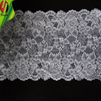 Nylon and Spandex Lace Trimming 17.3 CM Width used Lady Bra
