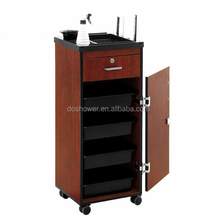 Portable manicure pedicure trolley salon furniture with hair hairdresser salon trolley
