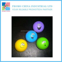Wholesale Promotion Funny Smiling Face PU Stress Ball Reliever Toys