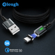 Elough OEM Aluminum Nylon Braided magnetic USB Cable For iphone 7 charger cable