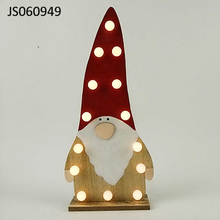 Christmas lighting Wooden Santa claus decoration with led lights