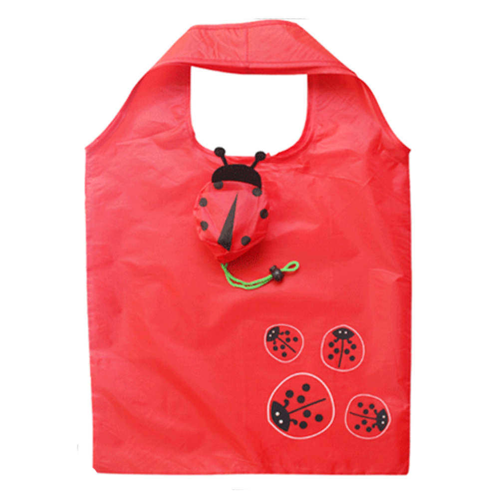 Hot Eco Storage Handbag Animal Septempunctata shape Foldable Shopping Bags Reusable Folding Grocery Nylon Large Bag