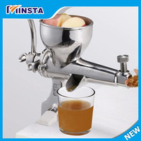 aluminium manual fruit juicer/juicer masticator/stainless steel cold press juicer