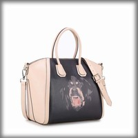 Leather handbag branded new style 100% genuine leather bag handbag dog logo