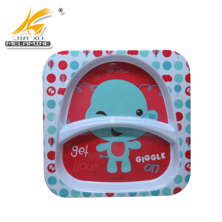 100% Melamine Kid's Two Sections Plate Bulk Buy From China