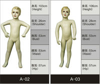 hot sale children realistic children custom made mannequin