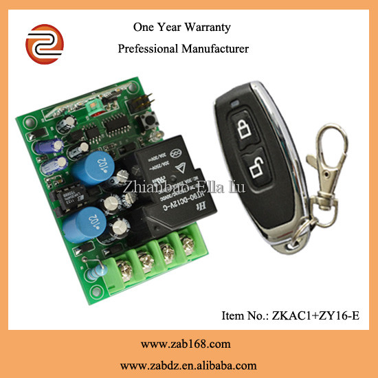 nice mental case AC220V 1 channel/ 1ch rf wireless remote control switch for garage door (ZKAC1+ZY16-E)