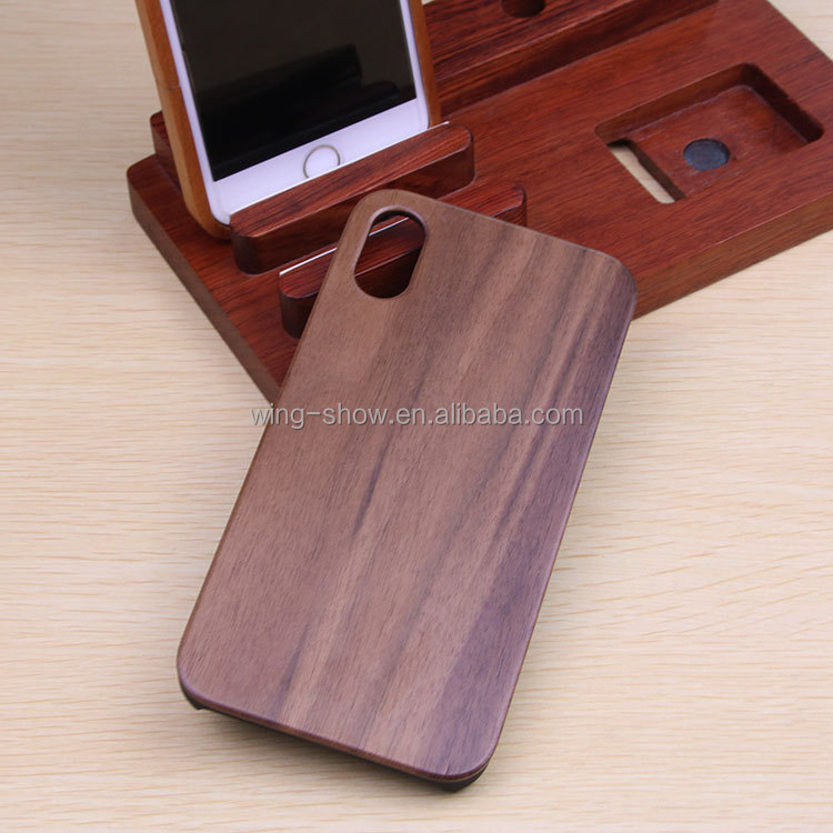OEM welcomed,printing your logo custom phone case wood for iphone X