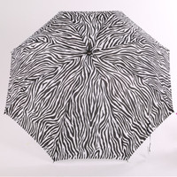 Promotional New Ruffled zebra womens fashion umbrella novelty girl Jungle series umbrellas for lady