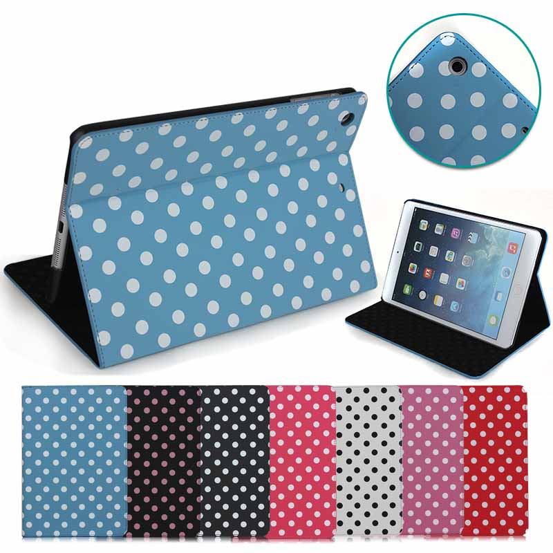 polka dots stand leather case for ipad mini 2