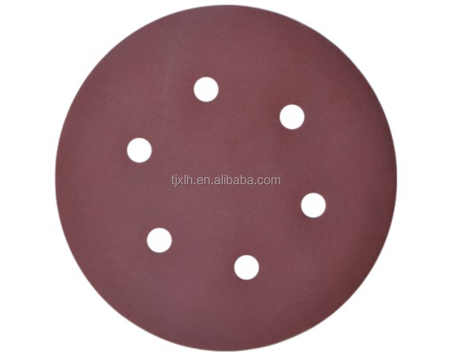 "5"" 125velcro/sanding disc pads yellow/white/red color with six holes"