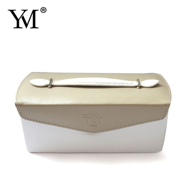 Guangzhou wholesale flat pu leather velvet jewelry case box