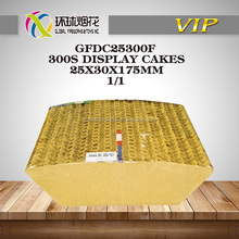 GFDC25300F 300S DISPLAY 1INCH 25MM CAKES SQUARE 1.3G UN0336 WHOLESALE HIGH QUALITY LIUYANG GLOBAL FIREWORKS FUEGOS ARTIFICIALES