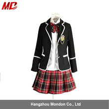 Europe and America High-grade Girl School Uniform with Coats Sexy mini skirt