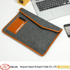 Alibaba new design elegant dark gery felt laptop case with snap button
