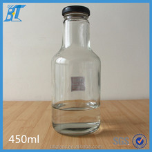 450ml 16oz fruit and vegetable drink juice glass bottle with screw cap
