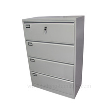 High Quality 4 Tier Steel Lateral Filing Cabinet For Office