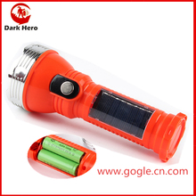 Hot sale lithium battery solar led flashlight