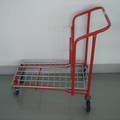Red colour Flat cargo transport trolley for transporting