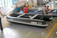 4.2m Cheap Price black PVC Boat Fishing Inflatable Sale Large Inflatable Boat