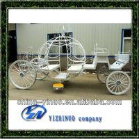 Beautiful white cinderella pumpkin horse carriage / used cinderella wedding horse drawn carriage for sale
