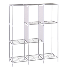 Suoernuo 9908 movable assemble portable closet wire shelving wardrobe