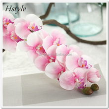 Real Touch Pink Artificial Flower Butterfly Orchids in Ceramic Pot FZH097