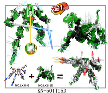 Intelligence 459 pcs Building Block Toy Wiht Light Trans Robot toy