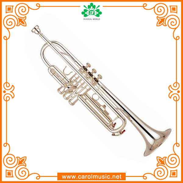 TR007 Beautiful High Quality Chinese Silver Plated Trumpet