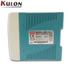 MeanWell MDR-10W-5 10W 5V plastic case din rail switching Power Supply